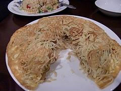 梅蘭酒家 梅蘭焼きそば断面(900円)
