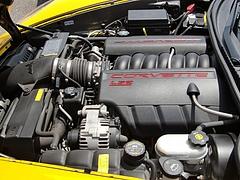 シボレー コルベット タルガトップ(C6)エンジンルーム