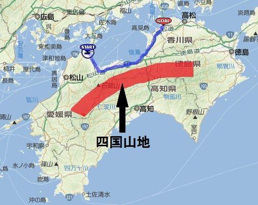 「四国山地 地図」の画像検索結果