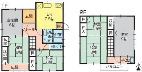 売住宅綾歌町780万円(間取り)19.4.26