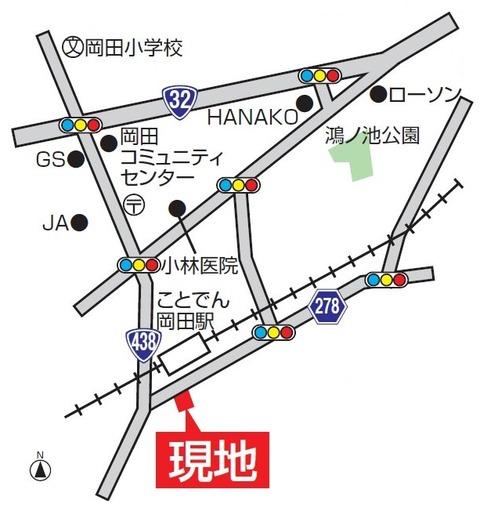 売住宅綾歌町780万円(地図)