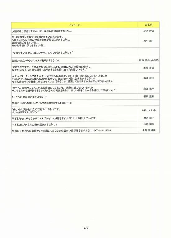 美鈴サンタメッセージ2014-2