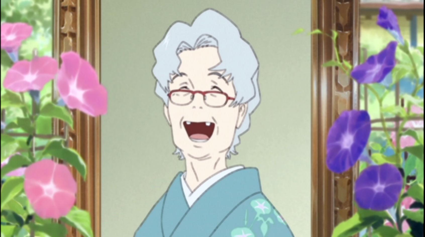 写真の中で笑うおばあちゃん。