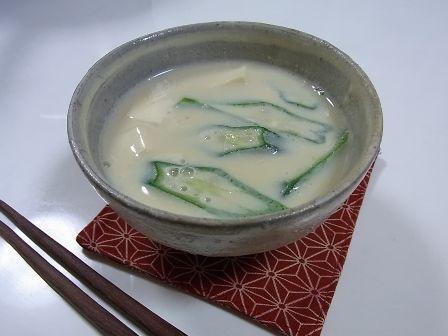 鼎のお味噌汁(豆乳仕立て)