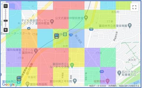 富田林市ヒートマップ