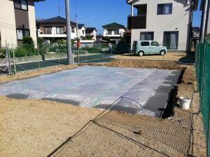 基礎砕石敷き 捨てコンクリート