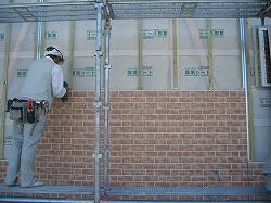 外壁サイディング貼り