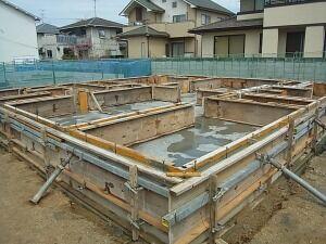 基礎工事 コンクリート打設 完了