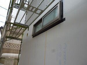 鉄骨造2階建てガレージ外壁工事 hspace=