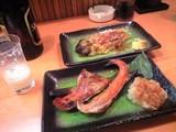 20080306焼きナスと鮭ハラス焼き