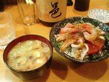 20080207海鮮丼と豆腐味噌汁