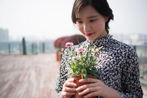 花柄スカートドレス