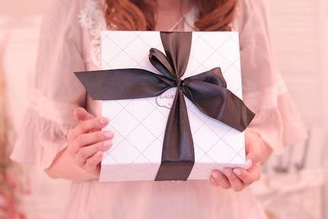 ピンク女の子プレゼントボックス