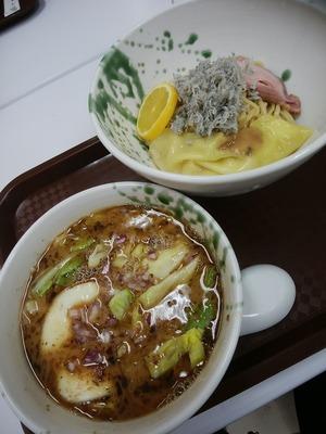 三崎君栄丸の釜揚げしらすのせつけ麺
