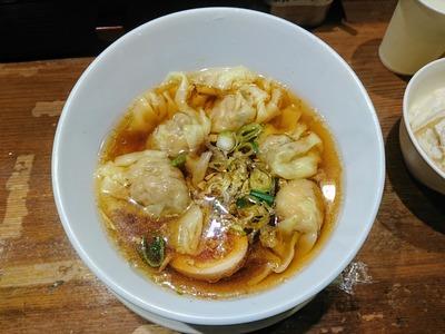 海老焼売ワンタンスープ+香港麺