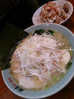 ネギ塩ラーメン(800円)+ネギチャーシュー丼(280円)