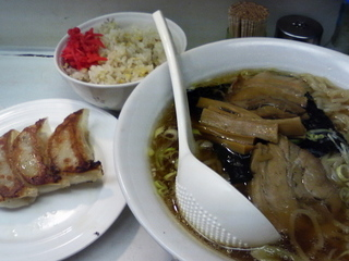 部長定食+半餃子