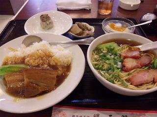 角煮丼+チャーシュー麺