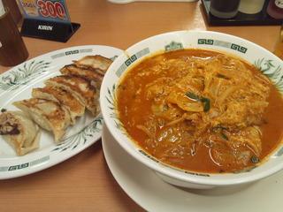 チゲ味噌ラーメン餃子セット