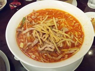 肉絲担々麺