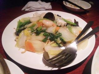 海鮮と旬の野菜のあんかけ焼そば