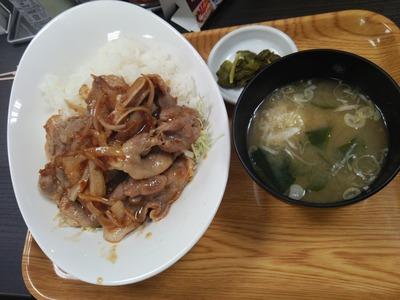 生姜焼き丼(750円)