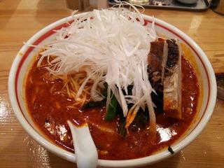 麻辣ねぎチャーシュー担担麺+二辛増し