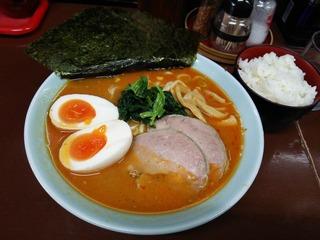 豚骨ぴり辛ラーメン+味玉