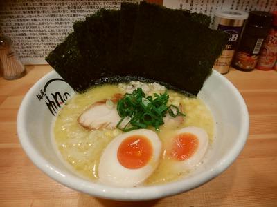 鶏白湯らーめん+味玉+海苔