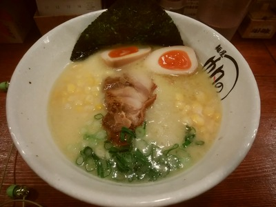鶏白湯+味玉+コーン