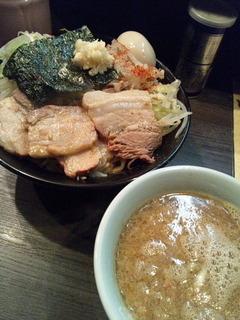 肉ドカつけ麺+味玉ちゃん