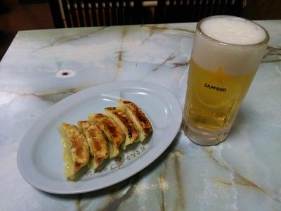 生ビール・餃子セット(540円)