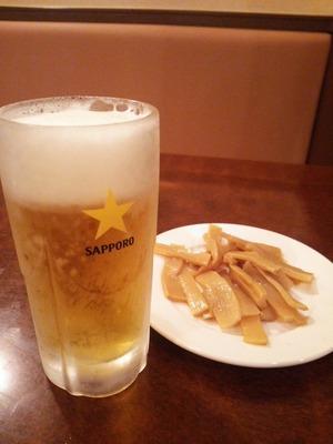 晩酌セットのビール