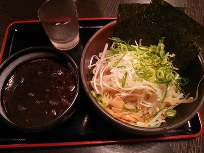 黒胡麻担々つけ麺(800円)