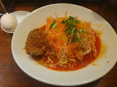 汁なし担々麺(680円)+温玉(110円)