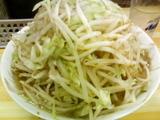 普通盛焼豚大小ダブル+野菜増+辛目