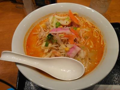 長崎ちゃんぽん[麺2倍]583円+ピリ辛味噌[3辛]96円