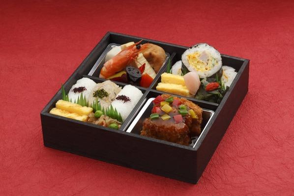 中村孝明の湘南みやじ豚鉄人弁当黒酢風味カツと特製寿司