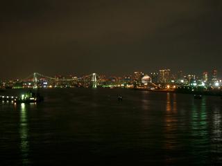 晴海大橋からみた。