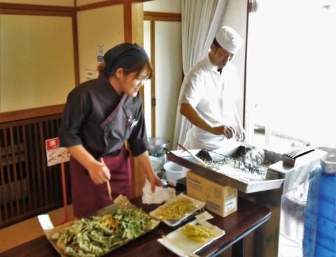 天ぷら作り