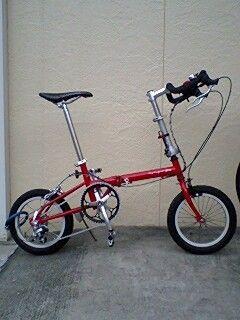 自転車の 自転車 ブレーキレバー 調整 子供 : 赤い折りたたみ自転車 ...