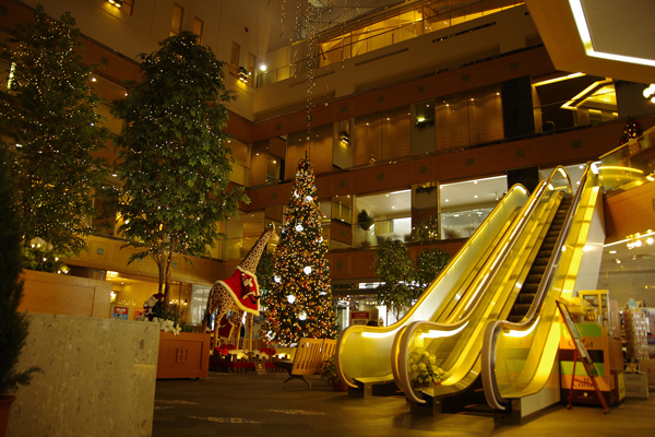 2011年4月1日より「東京ドームホテル 札幌」と名称が変わり、 その1周年記念として、ロビーに、大きなキリンの親子のぬいぐるみが置かれました。
