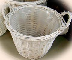 一鉢用の丸いバスケット