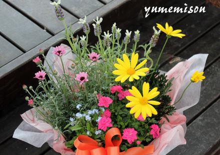 小さな花かご