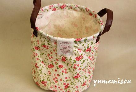 花柄の鉢カバー