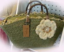 バッグ、緑