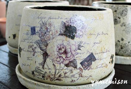 アンティークな陶器鉢