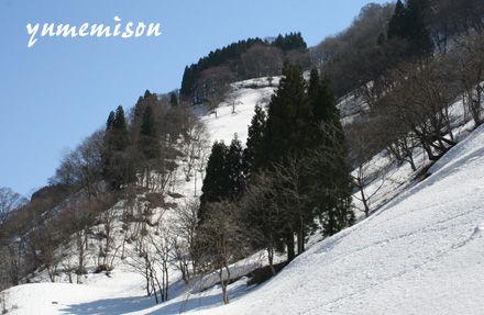 まだまだ山には雪がたくさんありました。