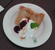 レモンティーのシフォンケーキ