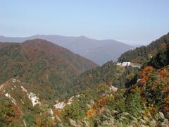 三方岩から、岐阜県を望む。